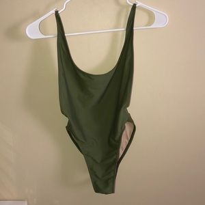 American apparel lowcut swimsuit sz small